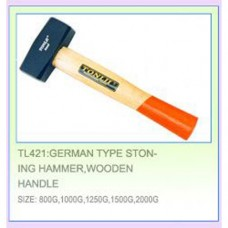 Кувалда 1500г. с квадратн, двустор. бойком на коротк. деревянн. ручке Tonlii TL421-1500g