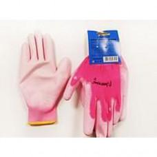 Перчатки универсальные (розовые), с полиуретановым покрытием. р-8 Unitraum UN-P004-8