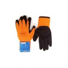 Перчатки универсальные (оранжево/черные), с полиуретановым покрытием. р-10 Unitraum UN-L001-10