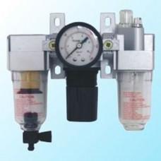 """Блок подготовки воздуха mini 1/4"""" с механическим сливом конденсата (регулятор давления с нижним расположением+фильтр+маслодобавитель) 0-10 bar Sumake SA-1112"""