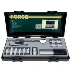 Набор Force 5122 (ключей слива масла, фильтросъемник, щупы, зеркало, свечные головки) 12 пр.