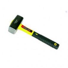 Кувалда 2000г. с квадратным двусторонним бойком на короткой фибергласовой(жёлтой) ручке Tonlii TL411-2000g