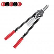 Заклепочник с 2-х рычажным регулируемым приводом ножничного типа 535мм FORCE 678535