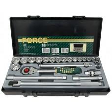"""Набор  дюймовых головок (SAE) с 5/16""""по 1-1/4"""" 24 предм. Force серия 4243S"""